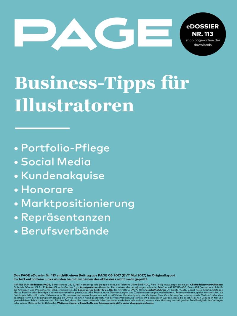 Produkt: eDossier »Business-Tipps für Illustratoren«