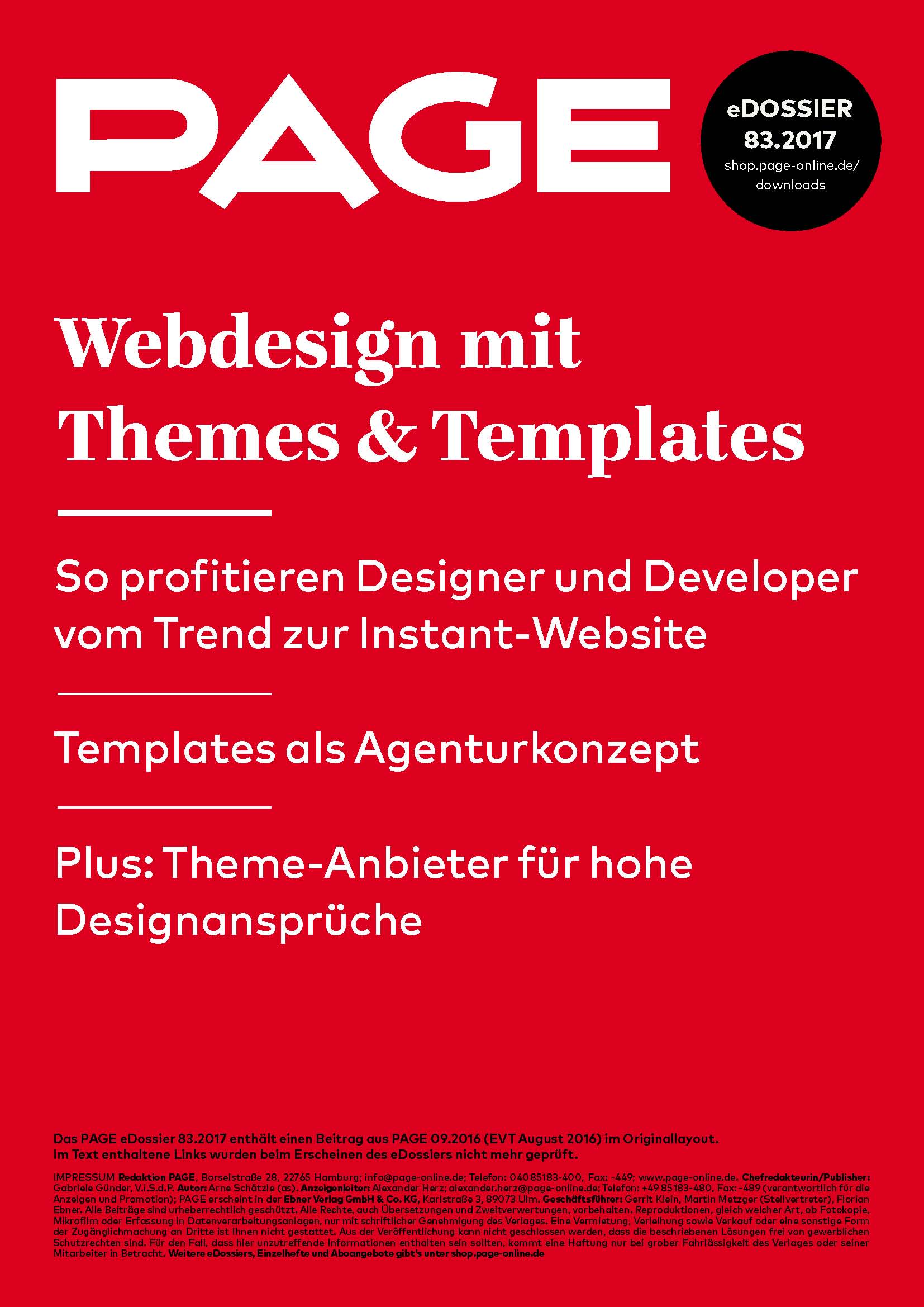 Produkt: eDossier »Webdesign mit Themes & Templates«