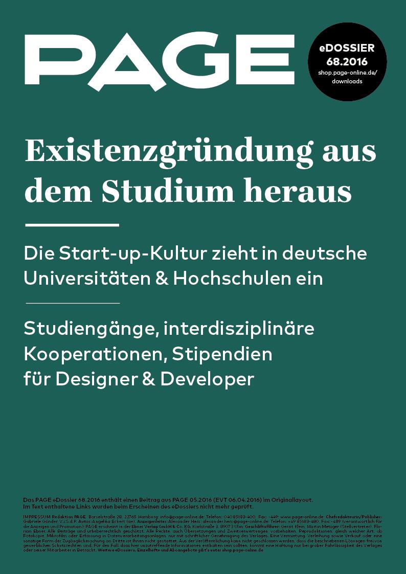 Produkt: eDossier: »Existenzgründung aus dem Studium heraus«