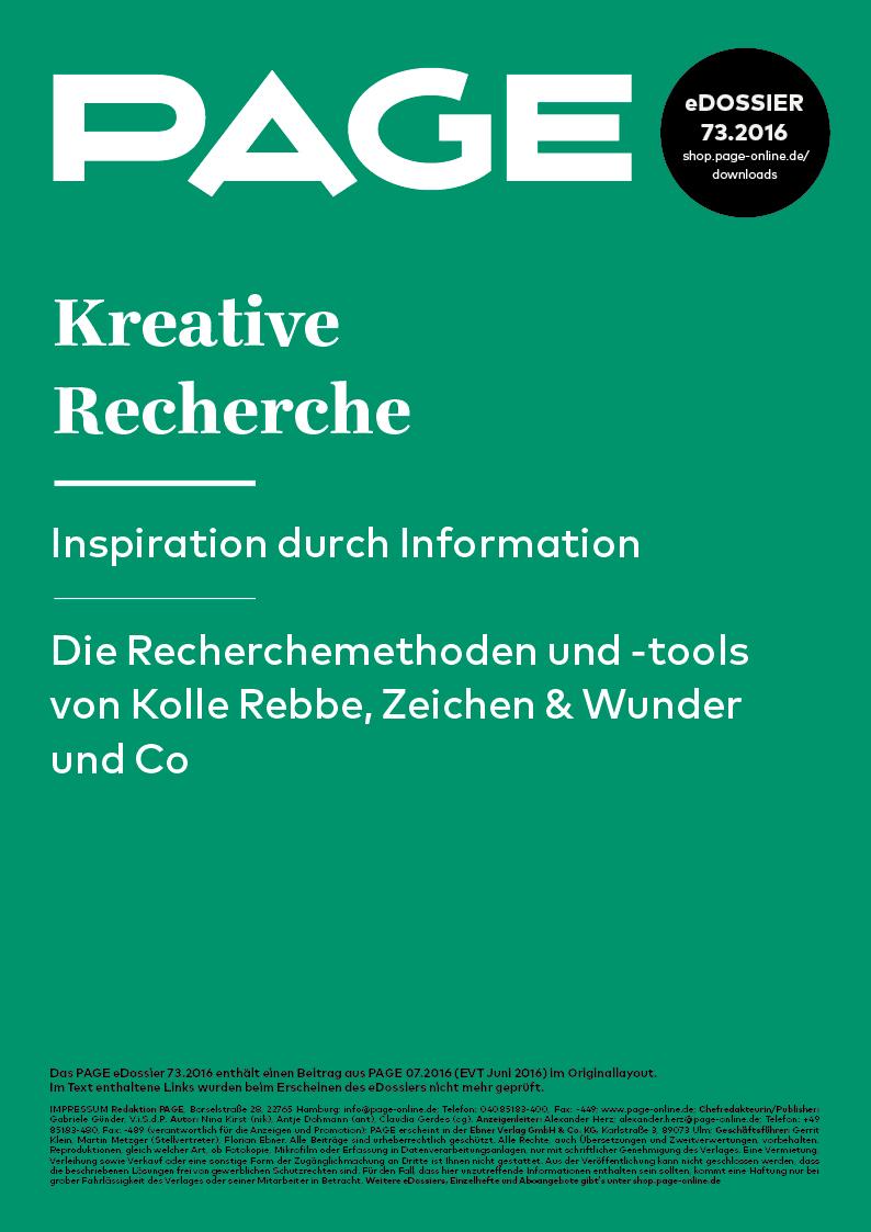 Produkt: eDossier: »Kreative Recherche – Inspiration durch Information«
