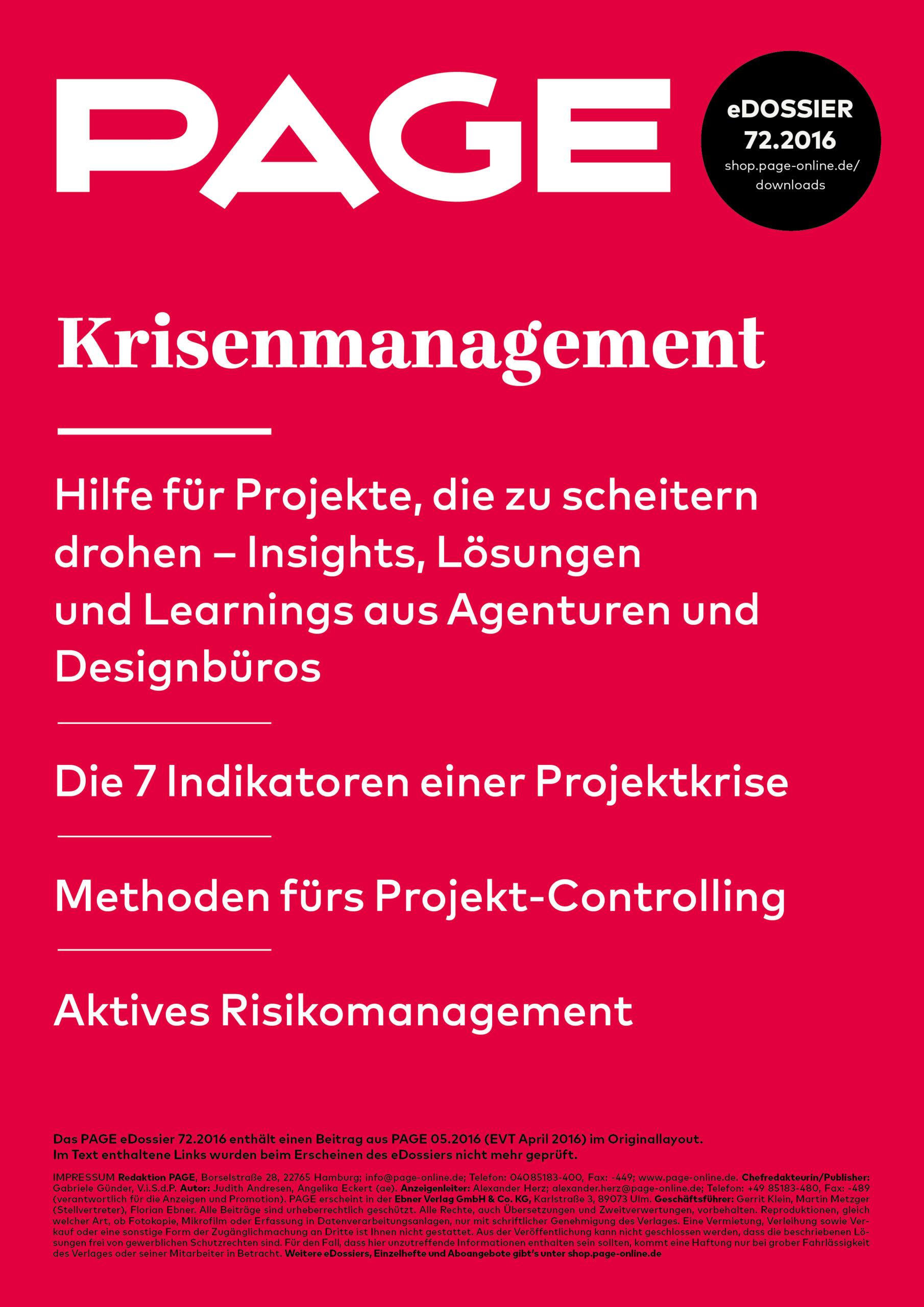 Produkt: eDossier: »Krisenmanagement – Insights, Lösungen und Learnings aus Agenturen und Designbüros«