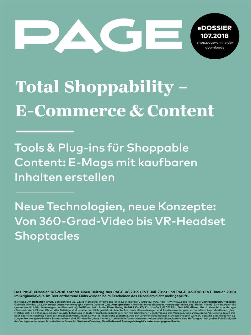 Produkt: eDossier: »Total Shoppability – E-Commerce & Content«