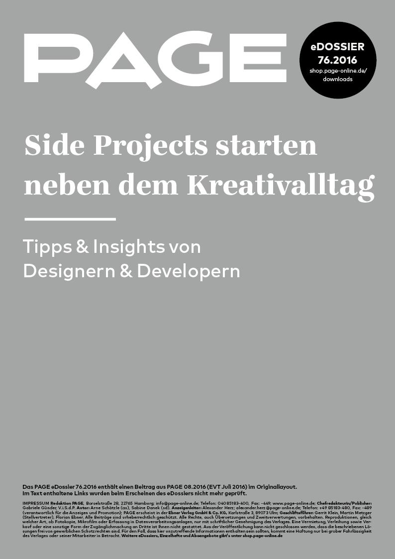 Produkt: eDossier: »Side Projects starten neben dem Kreativalltag«