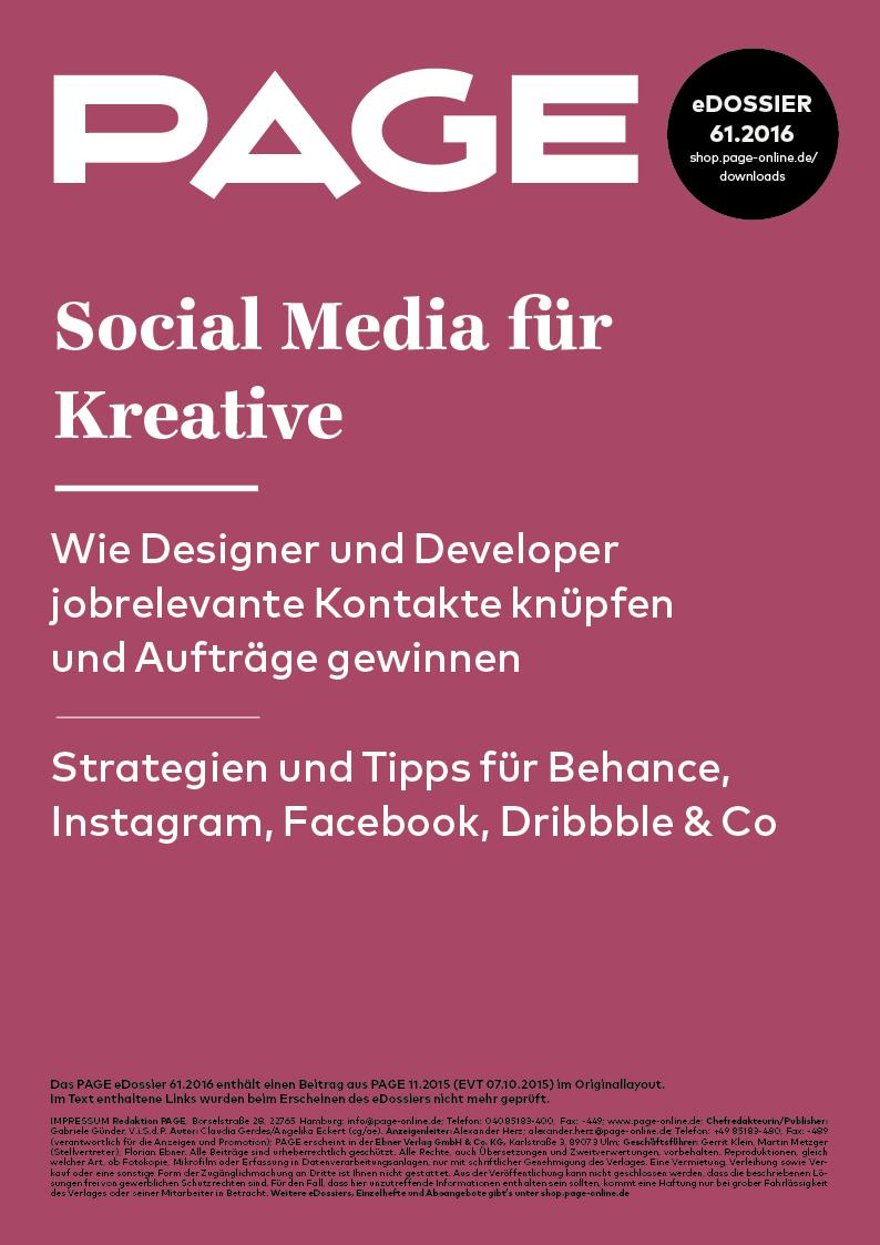 Produkt: eDossier: »Social Media für Kreative«