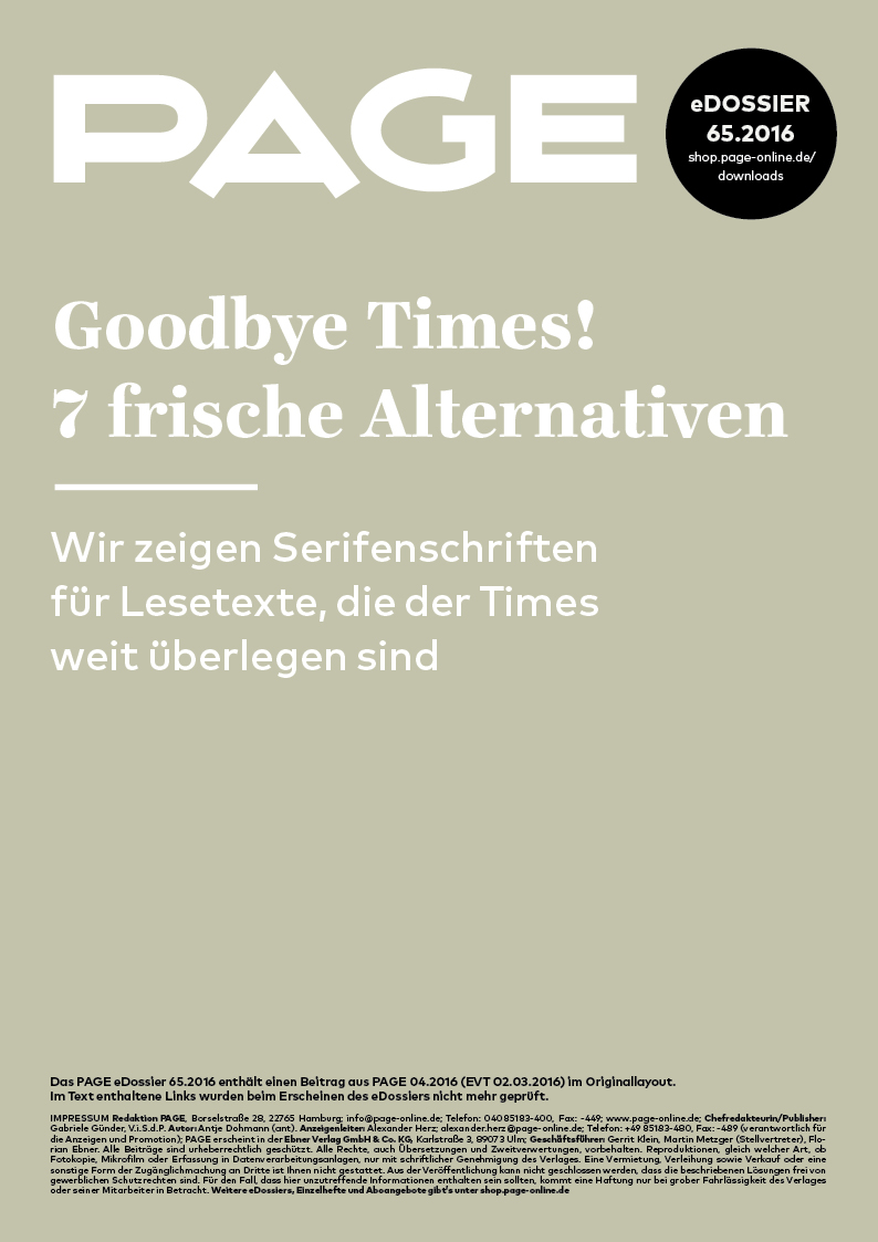 Produkt: eDossier: »Goodbye Times! 7 frische Alternativen«