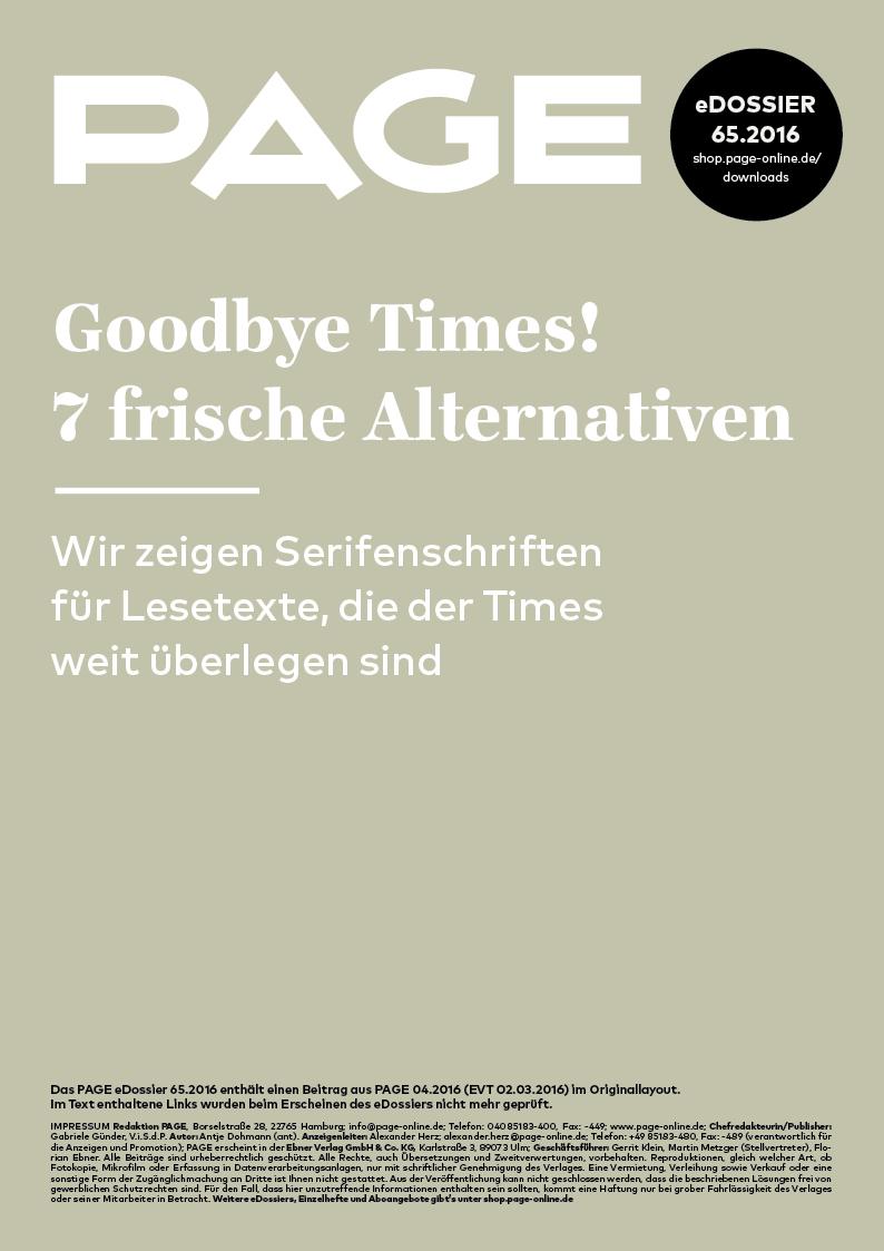 Produkt: eDossier: »Goodbye Times! 7 frische Alternativen«