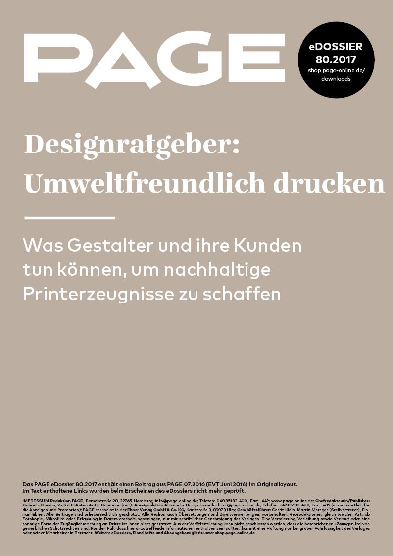 Produkt: eDossier: »Designratgeber: Umweltfreundlich drucken«