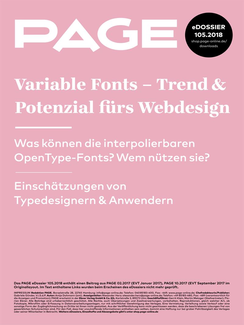 Produkt: eDossier: »Variable Fonts«
