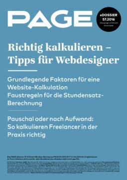 Produkt: eDossier: »Richtig kalkulieren – Tipps für Webdesigner«