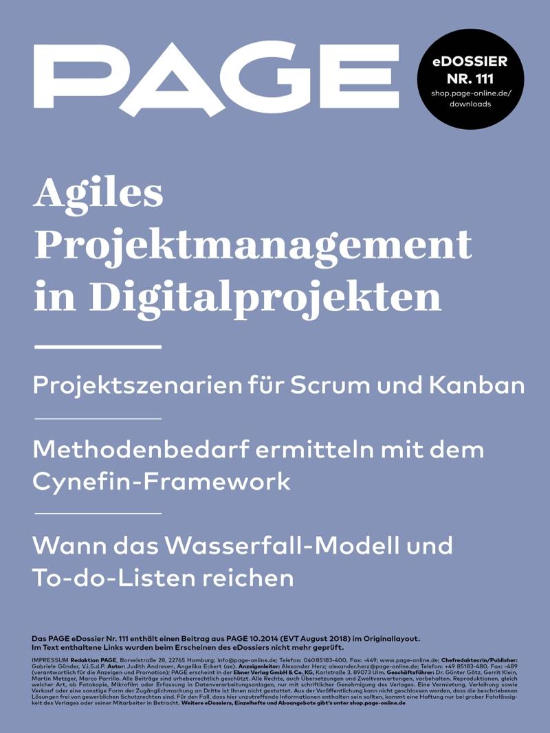 Produkt: eDossier »Agiles Projektmanagement in Digitalprojekten«