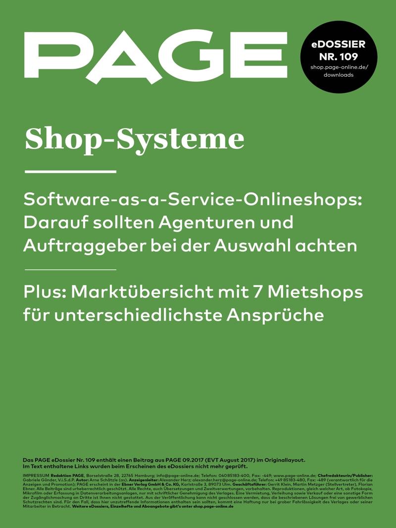 Produkt: eDossier »Shop-Systeme«
