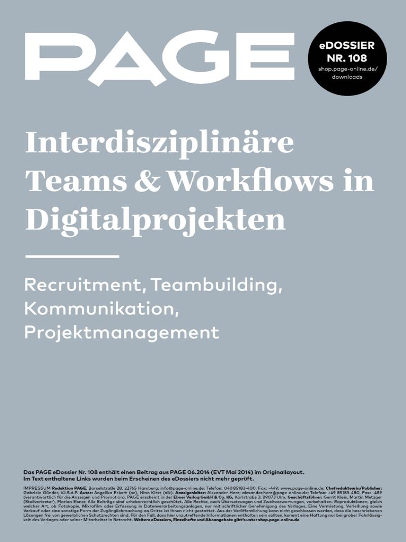 Produkt: eDossier »Interdisziplinäre Teams und Workflows in Digitalprojekten«