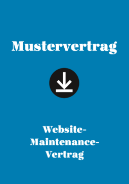 Produkt: Mustervertrag: Website-Maintenance-Vertrag