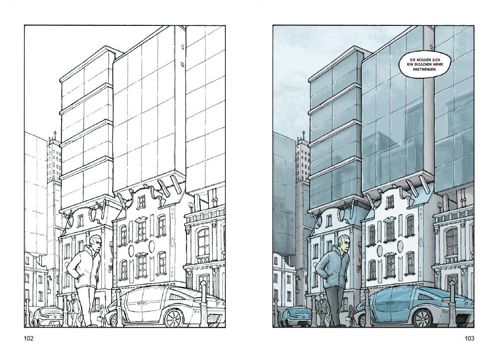 Comic und Skizze im Vergleich