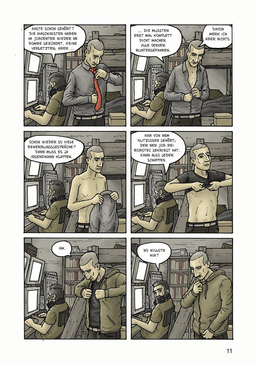 Comicseite ausgearbeitet