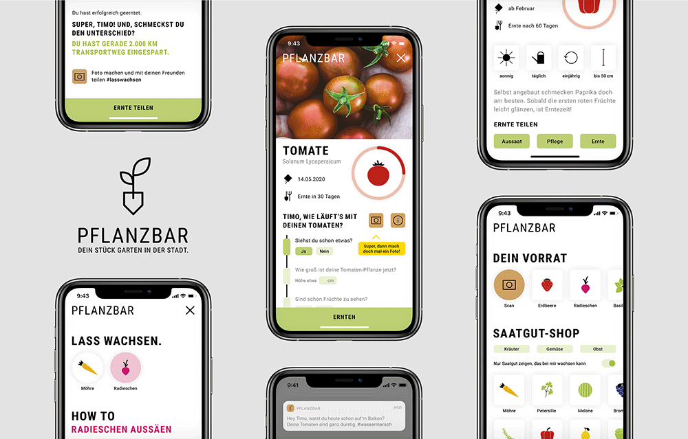 App Design PFLANZBAR von Jule Dissmann
