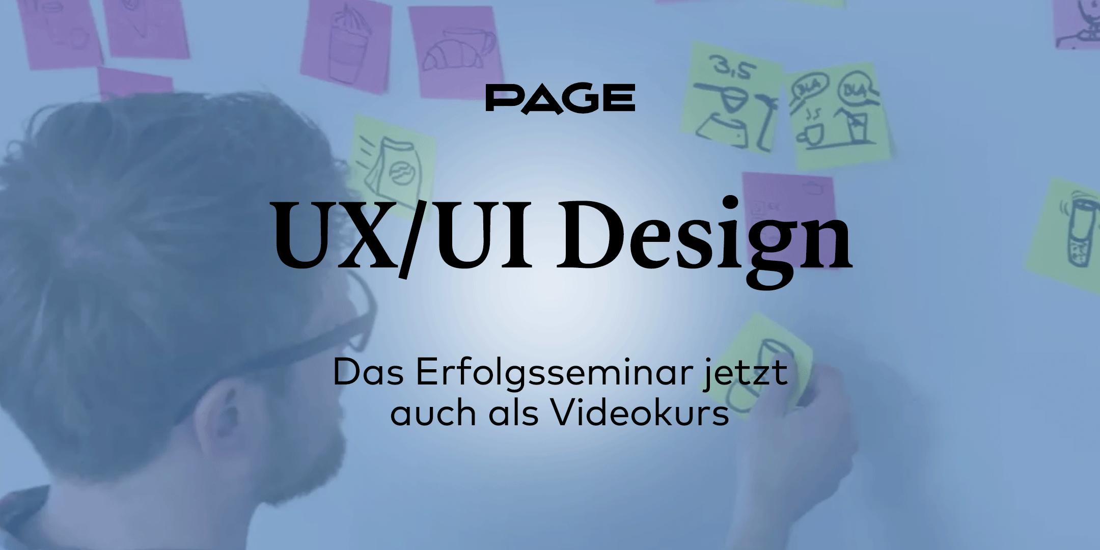 UX/UI Design-Webinar als Kurs für Zuhause