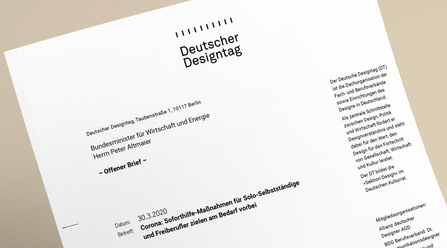 Designtag Offener Brief