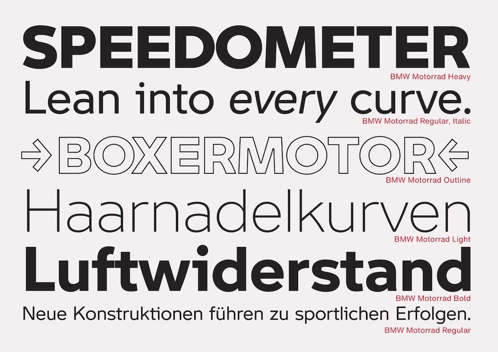 Monotype BMW Schrift Rad