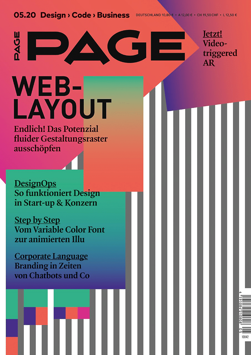 PAGE 05.2020, Webdesign, UX Design, UI Design, Corporate Design, Branding