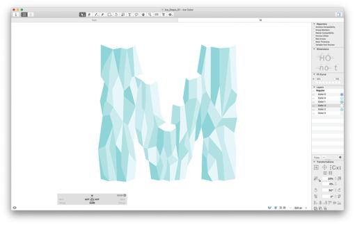 Variable Fonts Sechster Schritt: Flächen mit Farbe füllen Arthur Reiners Folmer