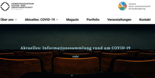 Website des Kreativbunds