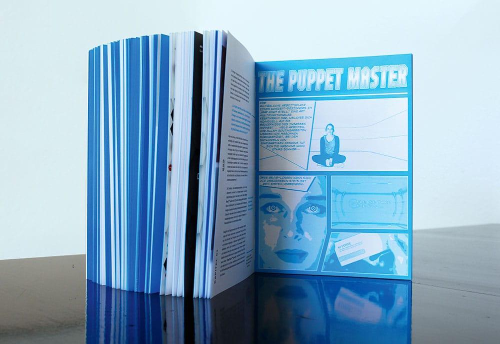 Buchseite von The Puppet Master als Comic