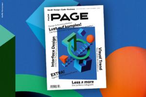 Slider Cover PAGE 06.2020: Lust auf Kreativität: Interface Design, Visual Trends, Informationsdesign, PAGE EXTRA Agentursoftware