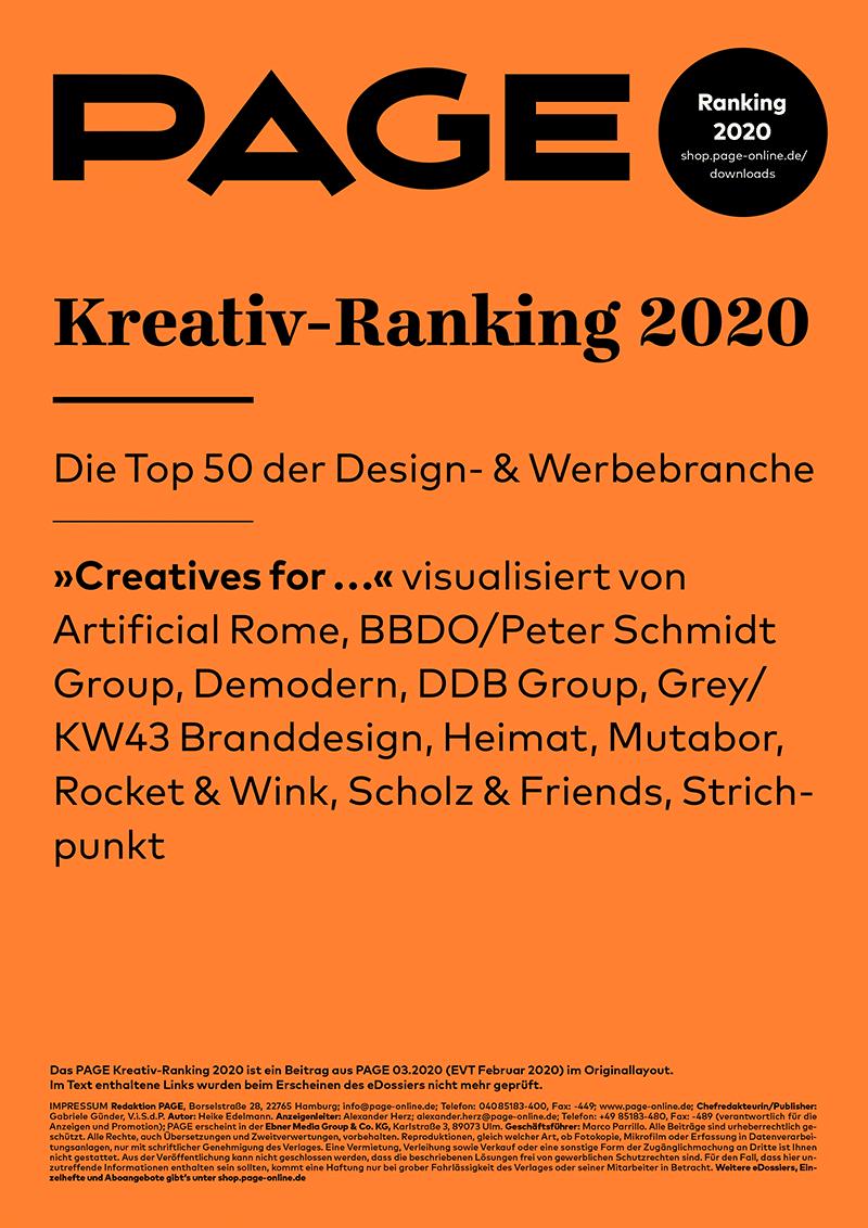 Produkt: PAGE Kreativ-Ranking 2020