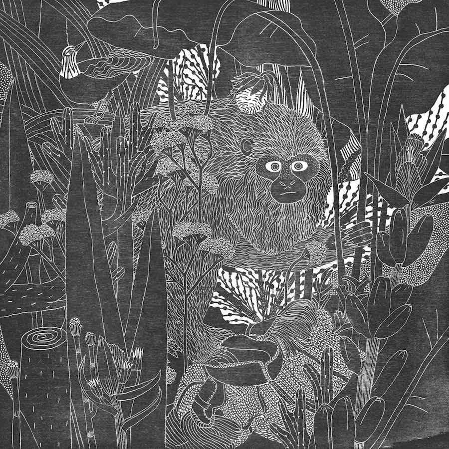 Illustratorin Holzschnitt Rosanna Merklin