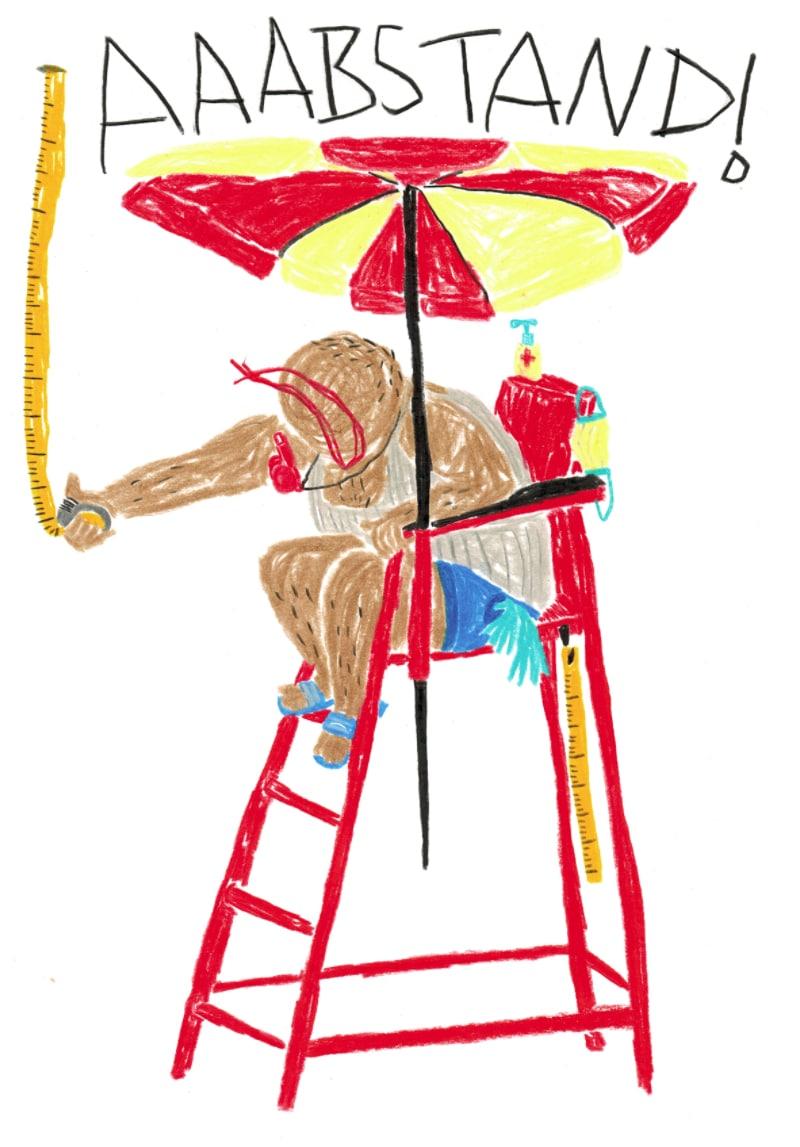 Corona Illustration Isabel Blumenthal