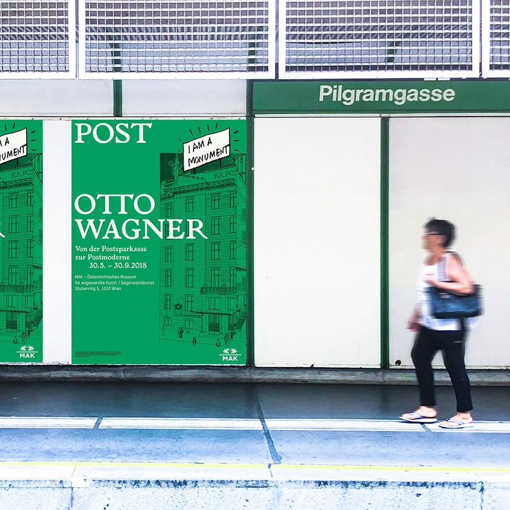 Ausstellungsposter Post Otto Wagner CIN CIN
