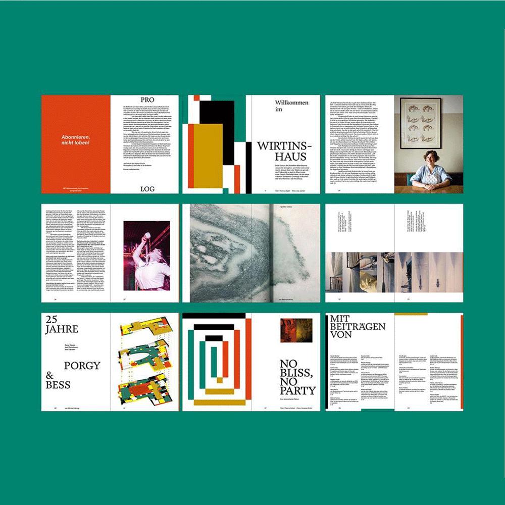 Buchgestaltung Hieb Magazine CIN CIN