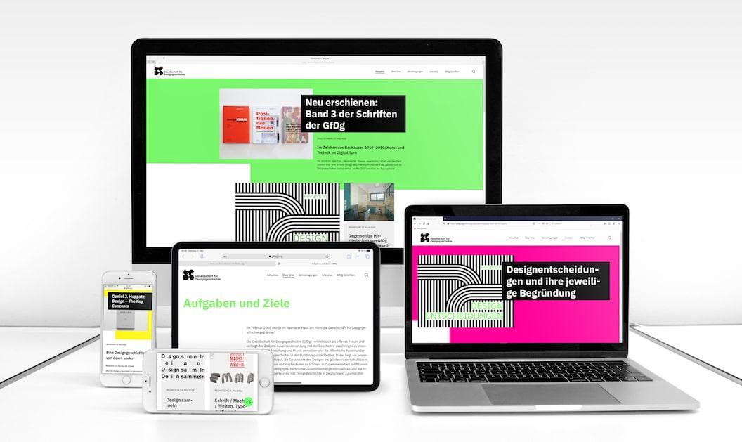 Gesellschaft für Designgeschichte neue Website