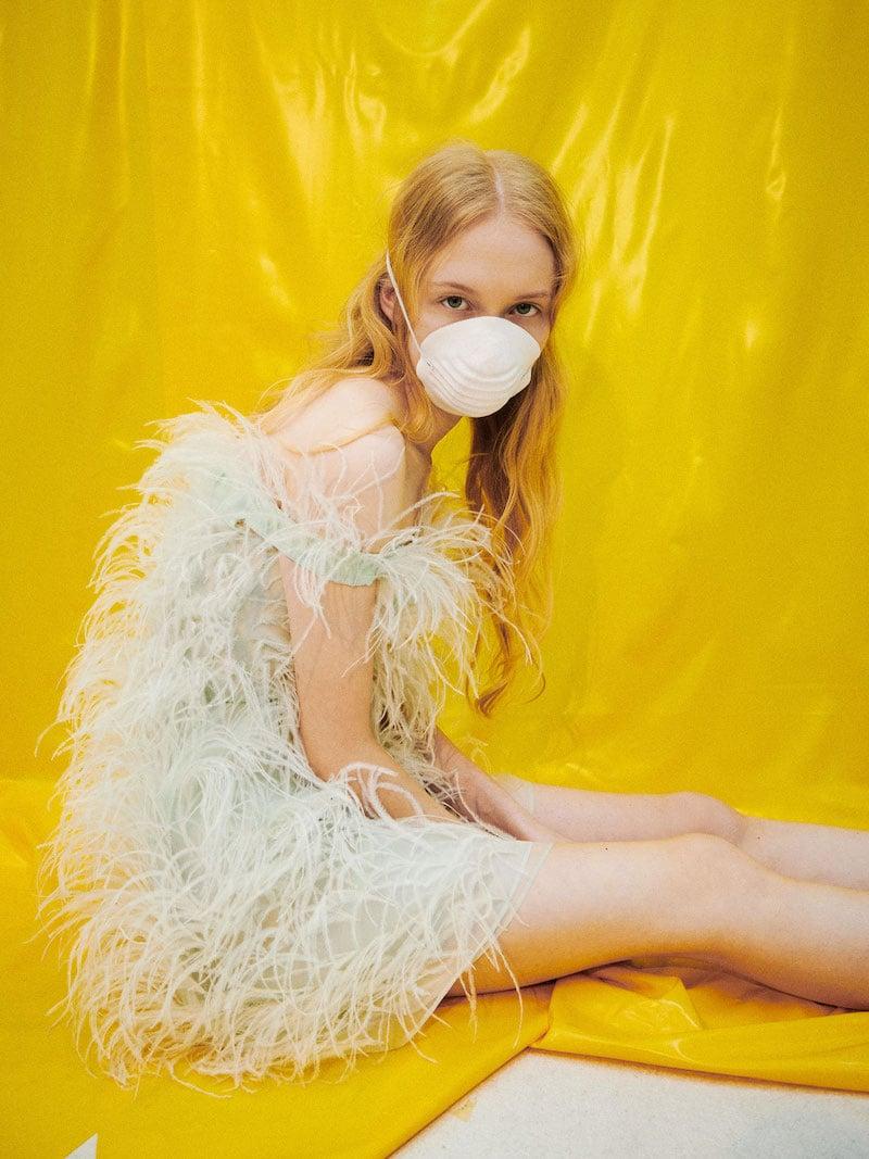 Modefoto Mundschutz Jana Kapounova