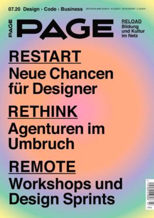 PAGE 07.2020, Aus den Hochschulen, Ausbildung, Designagentur, Freelancer, Kreativagentur, Kreativbranche, Produktdesign, Weiterbildung