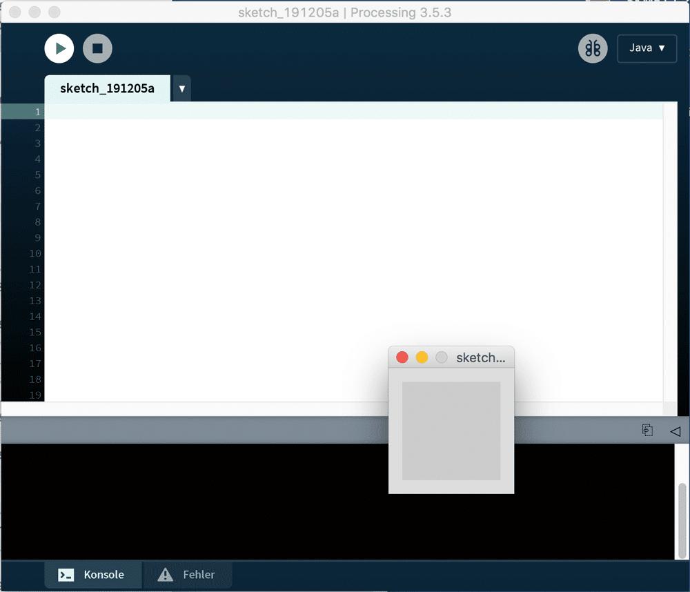 Processing-Editor erkunden