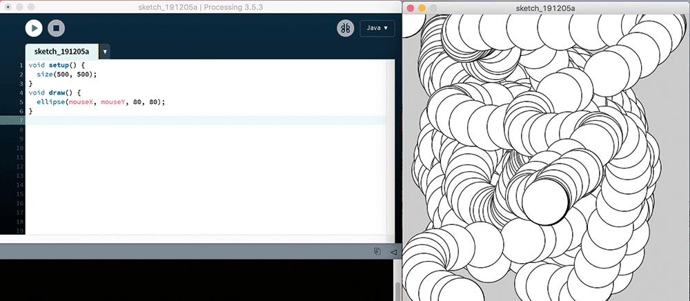 Kreise mit processing erzeugen und bewegen