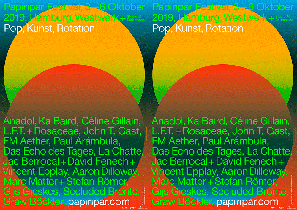 Visual Identity: Plakate für das Papiripar Festival 2019, Studio Laurens Bauer & David Benski