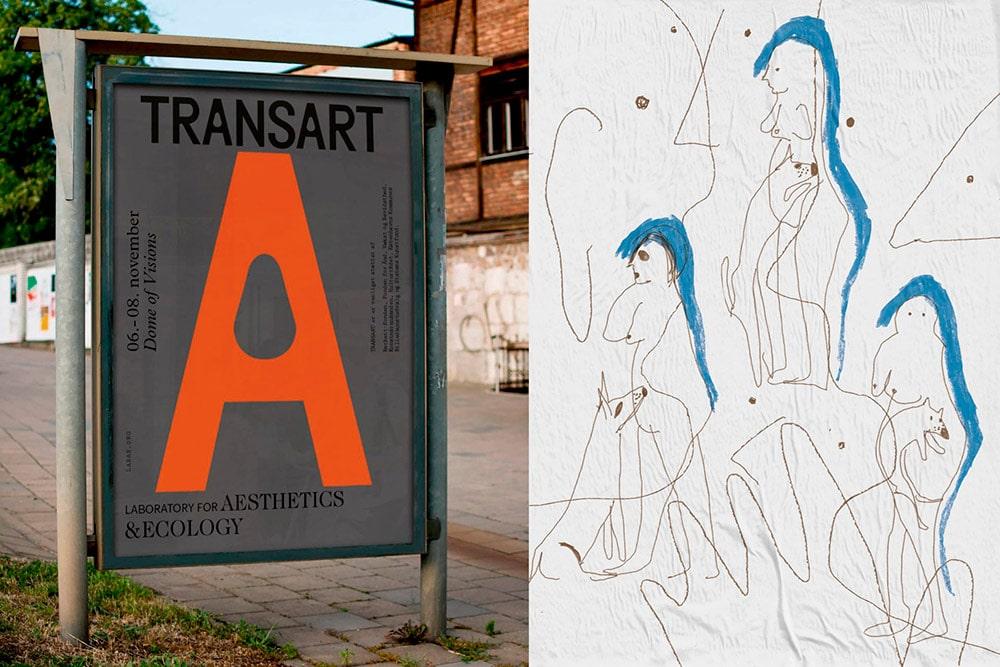 Visuelle Identität & Ausstellungsdesign für Transart Festival von Studio Laurens Bauer & David Benski