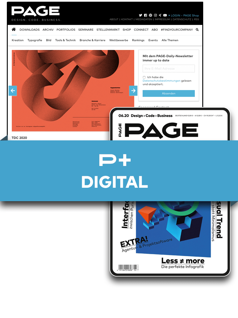 Produkt: PAGE+ Digital im Jahresbezug