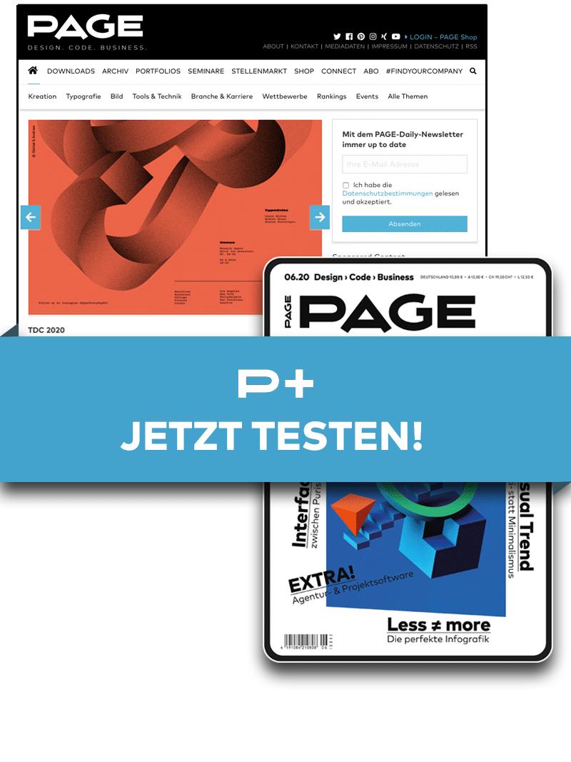 Produkt: PAGE+ Digital – 3 Monate für 3 Euro*