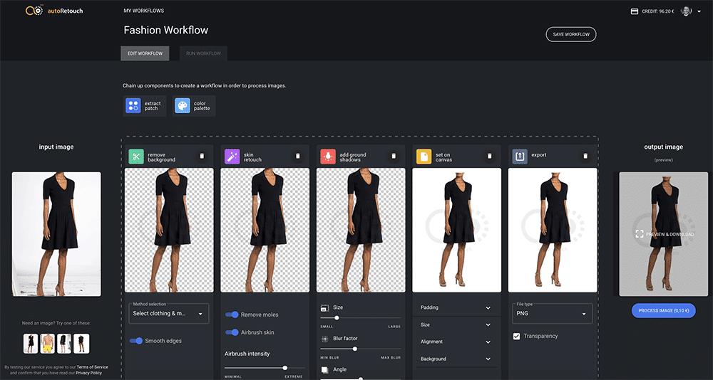 autoRetouch: Retusche für Mode-Produktbilder