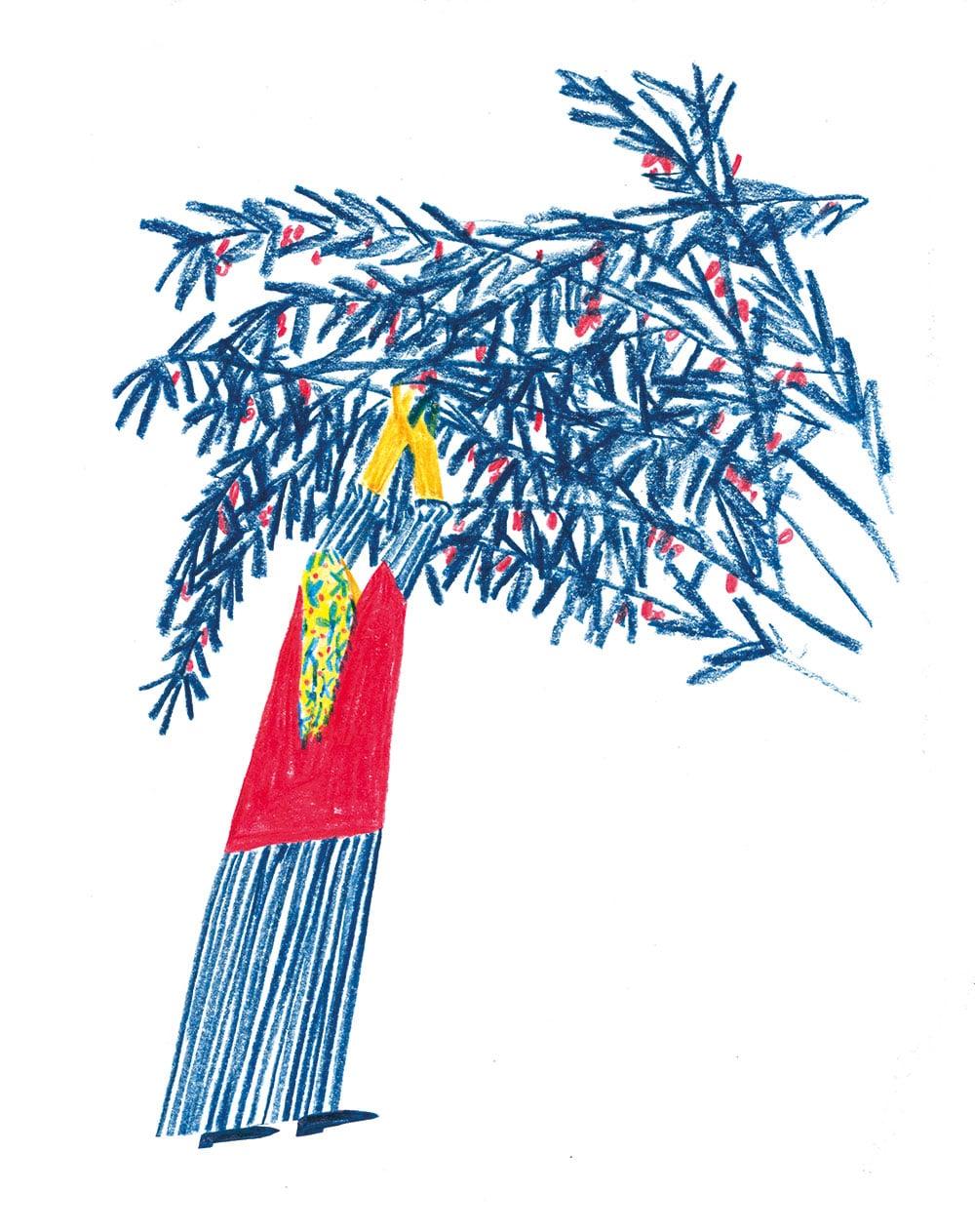 Illustration Beyza Yilmaz freie Arbeit »Kirschen«