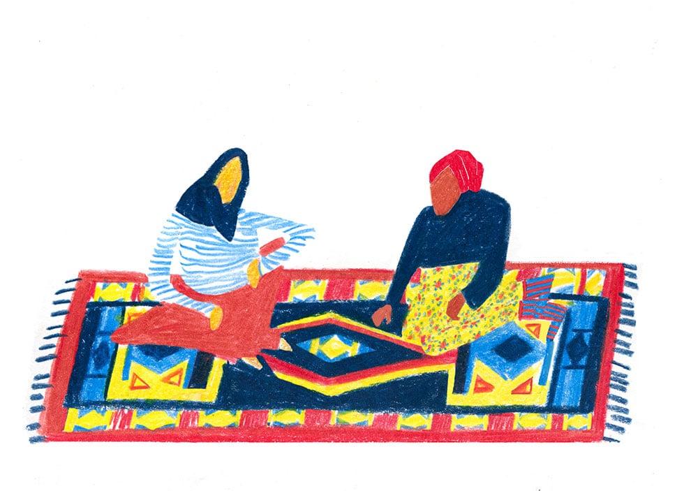 Illustration Beyza Yilmaz, freie Arbeit »Der Kelim«