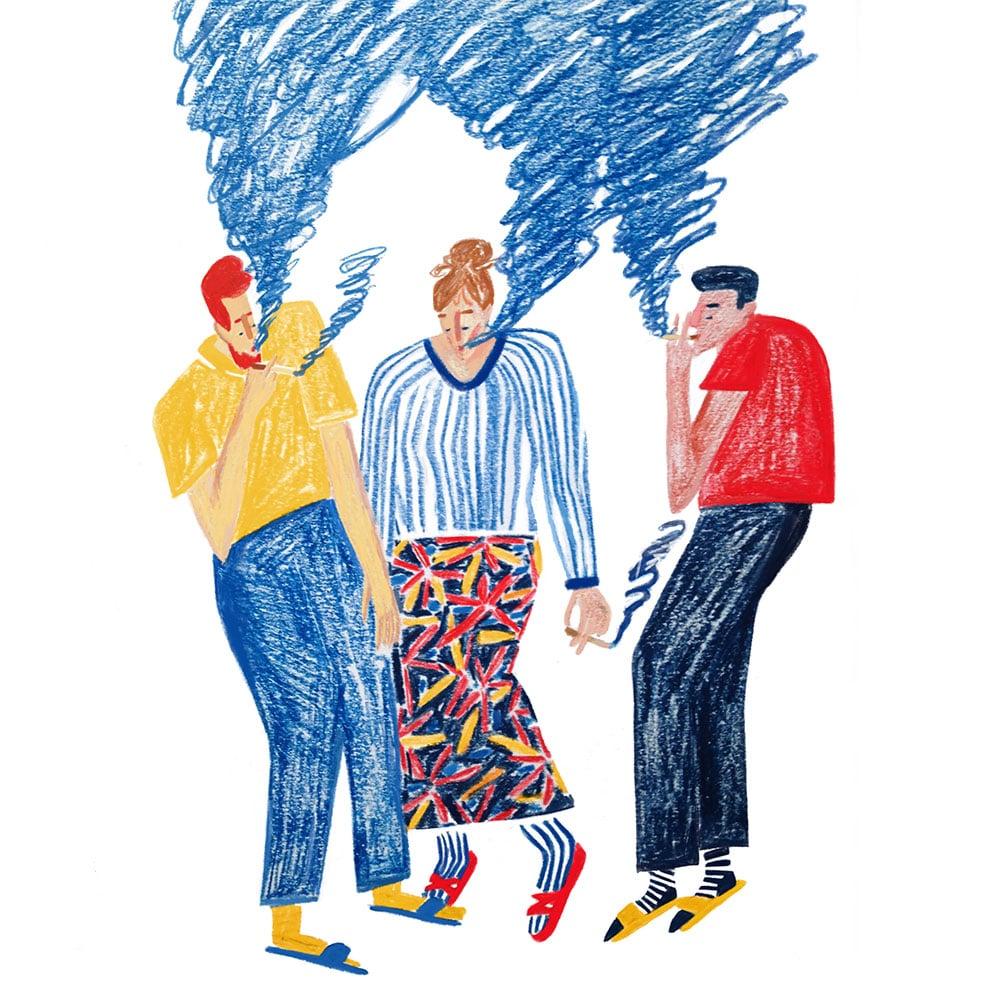 Illustratorin Beyza Yılmaz, Freie Arbeit Rauch