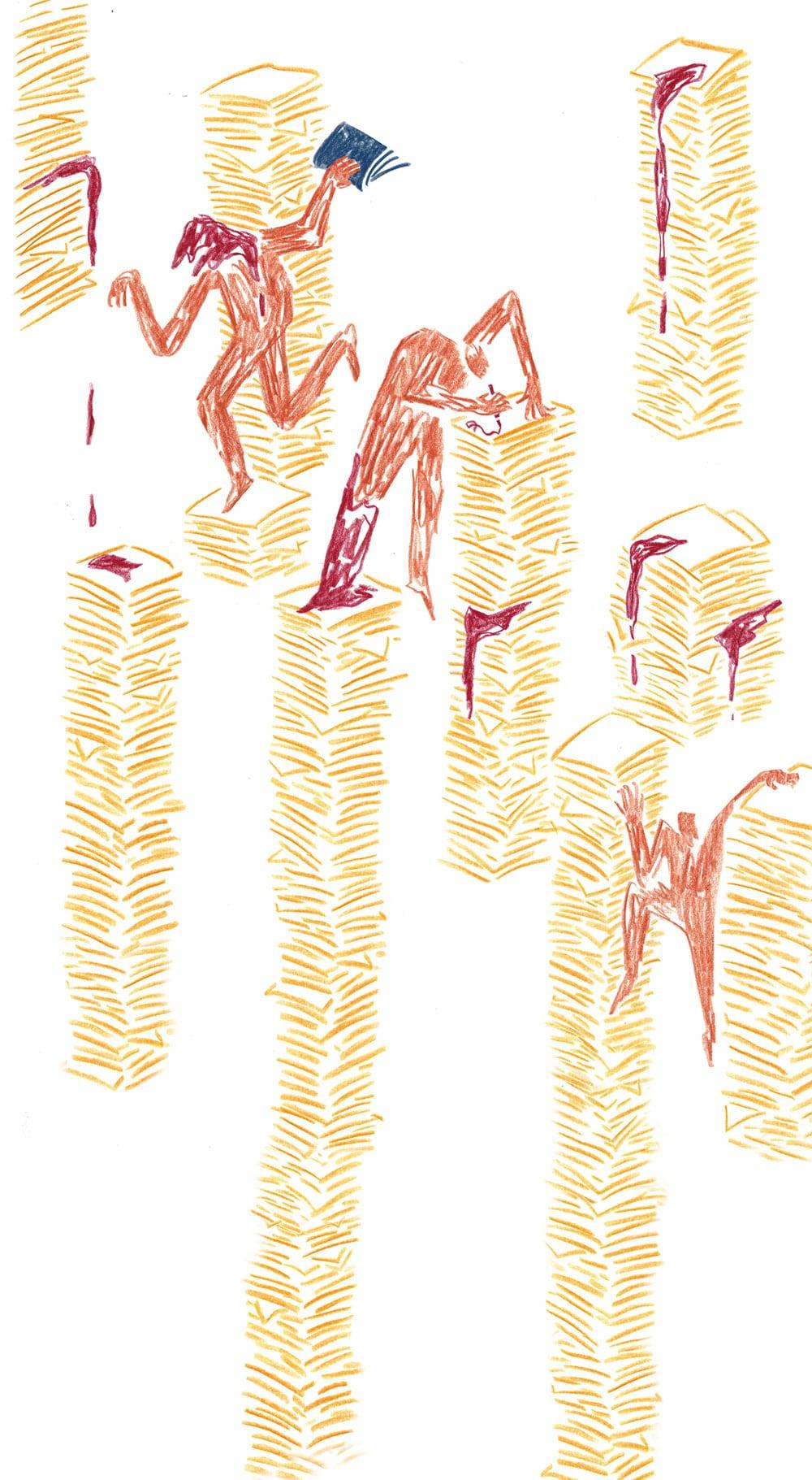 Illustration Beyza Yilmaz zu Walter Benjamin »Einbahnstraße«