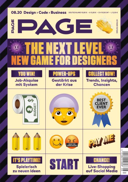 PAGE 08.2020, Auftragsakquise, Auftragsakquise, Bildagenturen, Branding, Corporate Identity, Kreativbranche, Kreativitätstechniken