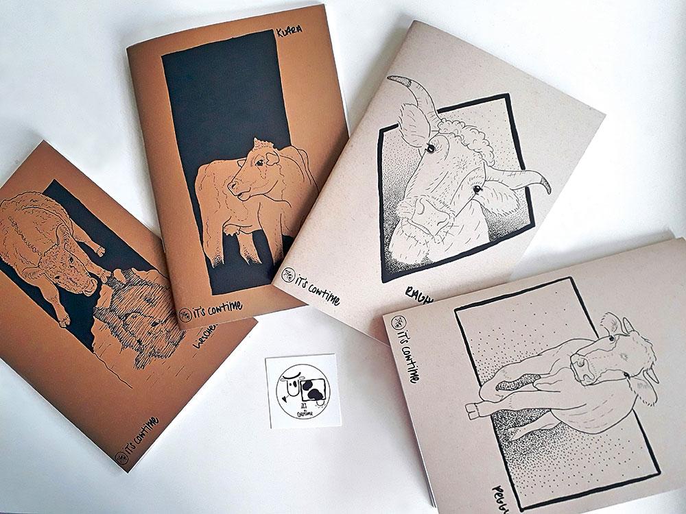 Vegan produzierte Notizbücher von Lena Wenz
