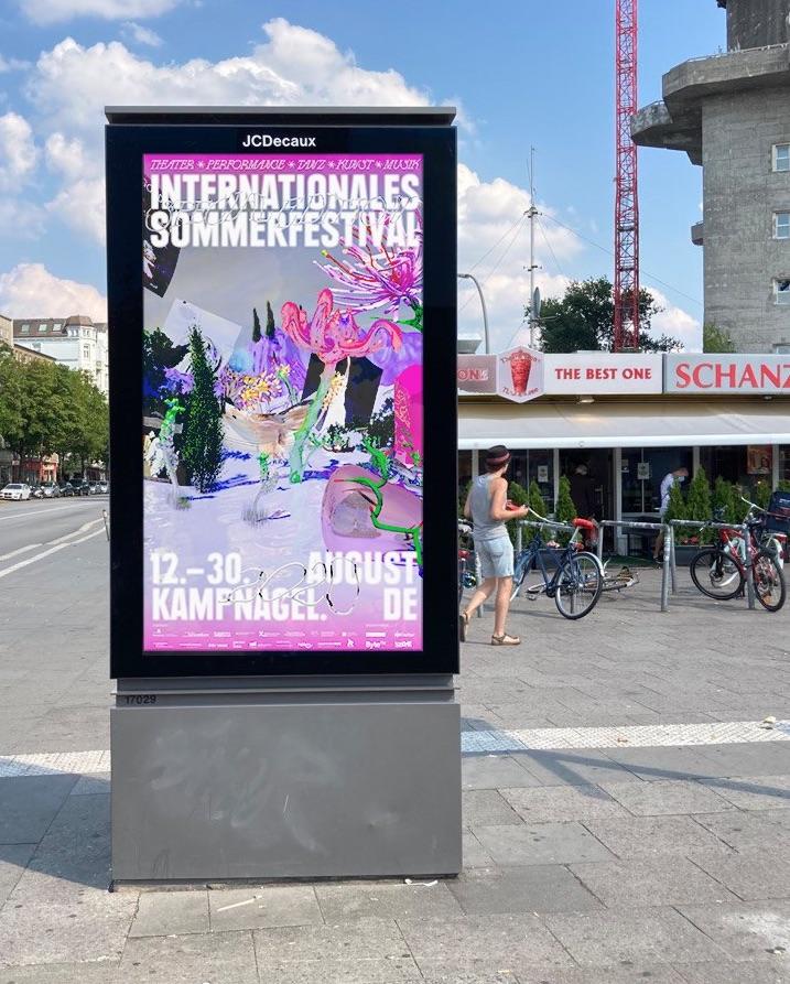 Festival Plakat 3D-Design Hamburg